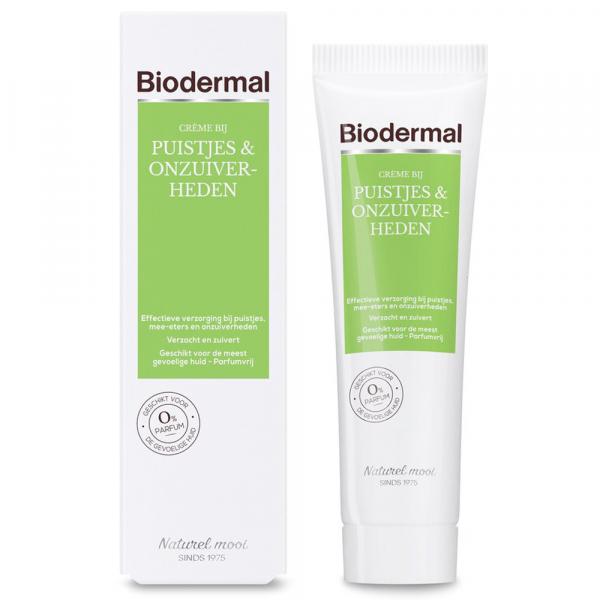 Biodermal Crème bij Puistjes & Onzuiverheden